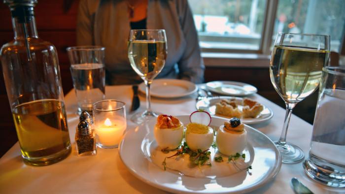 Cafe Maddalena Stuffed Egg Trio