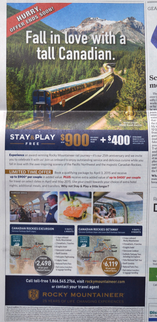 Typical Canadian rail advertisement. Click to enlarge.