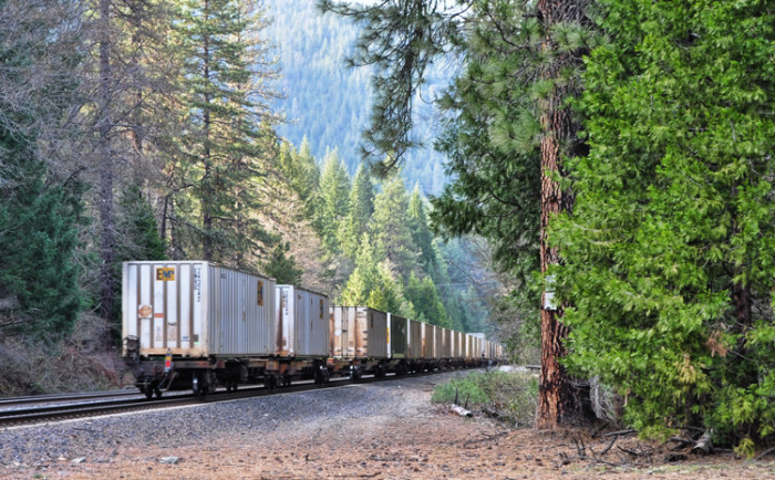 Only freight cars enjoy the amazing scenery of the Sacramento Canyon now.