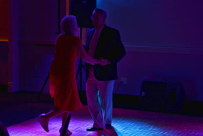 Larry and Sandy dance at their 60th wedding anniversary several years ago