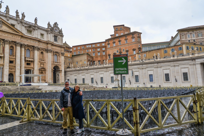 Kary and Skip at the Vatican