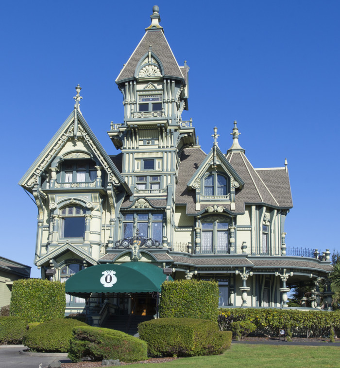 Seen here, the iconic Carson Mansion in Eureka California. The Carter House is a block south.