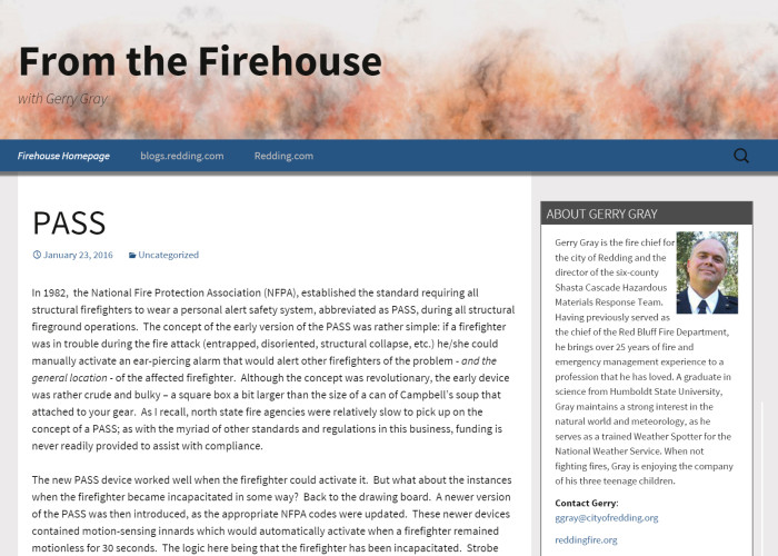 Firehouse Blog Gerry Gray