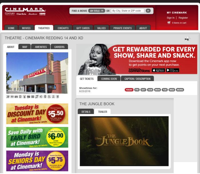 Junglebook at the Cinemark
